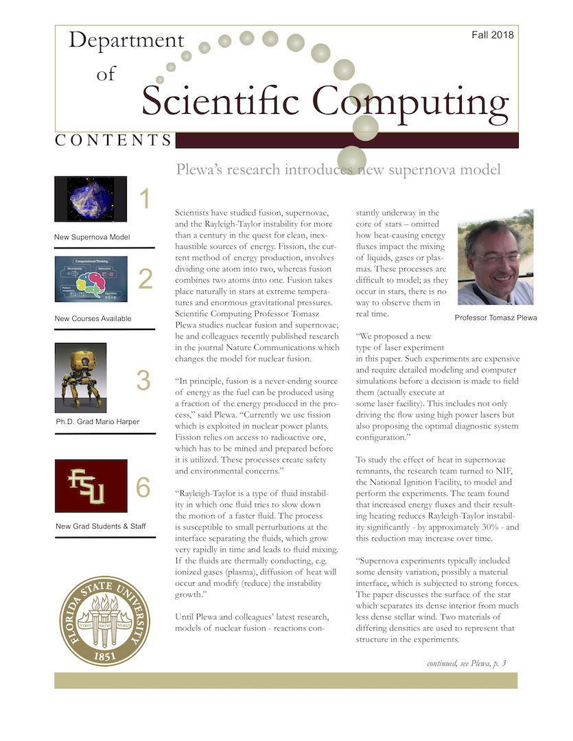 Only Fraction Of Students Are Prepared >> Fall 2018 Department Of Scientific Computing