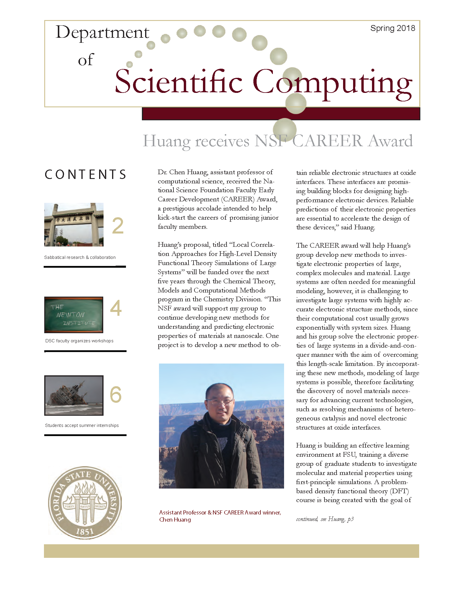 Spring 2018 - Department of Scientific Computing